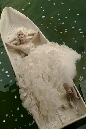 ivory tulle dress - black hat - ivory heels - black ring