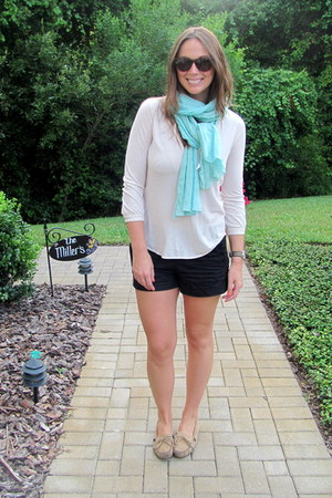 JCrew shorts - J Crew shirt - Target sunglasses - Minnetonka flats