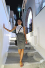 White-crop-top-new-look-vest-heather-gray-bodycon-h-m-skirt-camel-sandals