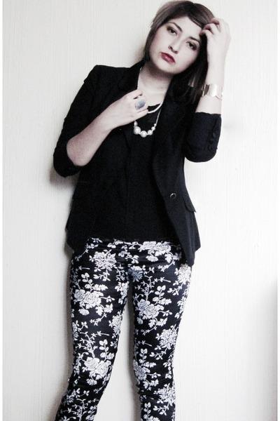silver cristian lay bracelet - floral XavieraQ leggings