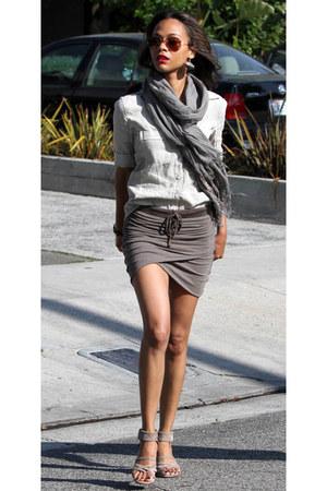 jersey grey skirt