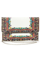 YOINS Metal Bar Clutch Bag