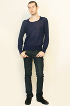 Zara sweater - Zara jeans - shoes