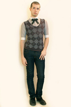 Hanjiro shirt - Hanjiro vest - Handmade Etsy tie - Zara jeans