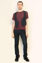 Galeries Lafayette t-shirt - Vintage  Hanjiro vest - Zara jeans