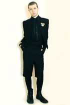 black Misaky shirt - black Npfeel jacket - black gloves - black Tapena