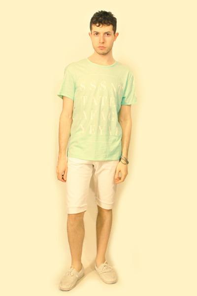 H&M shoes - H&M Conscious Collection shorts - FASHION AGAINST AIDS H&M t-shirt -
