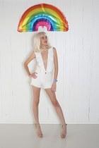 white ruffle YO VINTAGE bodysuit
