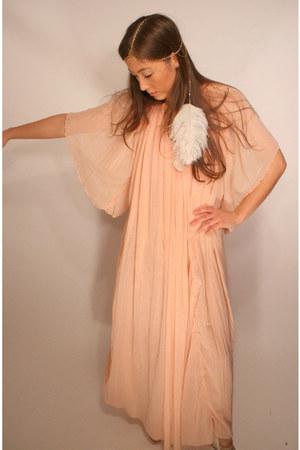 peach maxi hippie YO VINTAGE dress