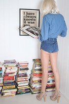 denim Zara shirt - denim YO VINTAGE shorts