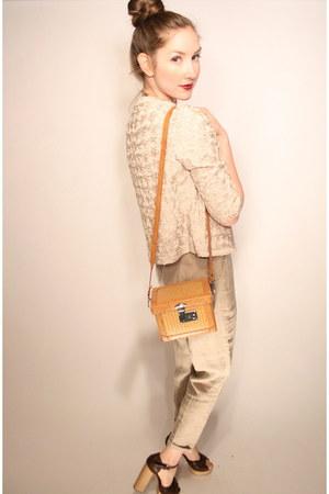 cream rose applique YO VINTAGE jacket