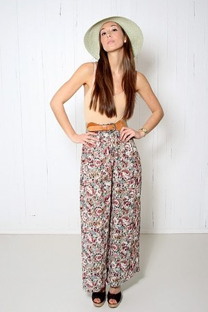 sheer floral YO VINTAGE pants
