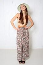 sheer floral YO VINTAGE pants