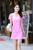 Lips printed dress short sleeve dress ghl1026