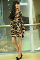 Pattern printed chiffon dress long sleeve ghl0120