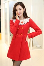 Cashmere Coat With Crocheted Collar YRB0376