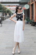 SLEEVELESS embroidery FLOWER MAXI SUMMER CHIFFON DRESS ghl0209