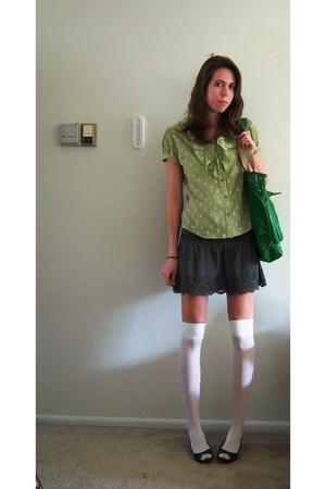 carribean joe shirt - American Eagle skirt - TJ Maxx socks