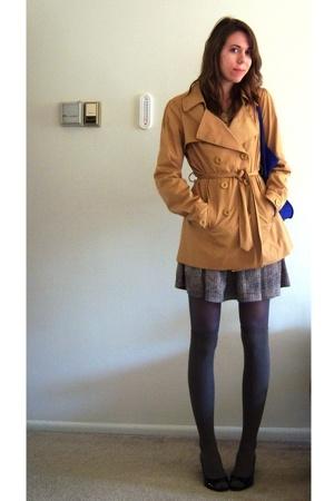 TJ Maxx jacket - TJ Maxx shoes - moms skirt - charlotte russ stockings