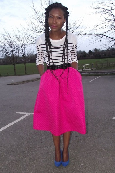 Hot Pink Midi Skirt - Dress Ala
