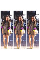 white tribal dress H&M dress - olive green camo jacket Forever21 jacket
