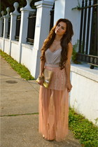 beige naaz Naaz skirt - peach haus131 Haus131 shirt