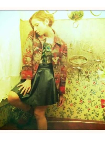 vintage blazer - vintage skirt