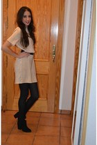 Bershka boots - Primark dress - suiteblanco stockings