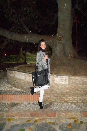 suiteblanco sweater - Bershka boots - Primark purse - suiteblanco pants