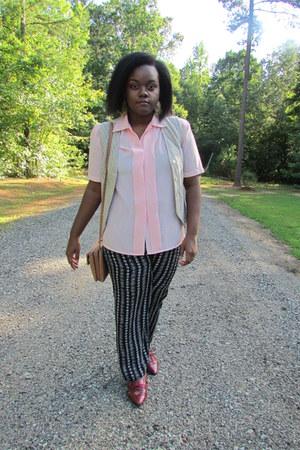 peach Blouse blouse - bronze mocha straps Koltov bag