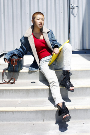 Levis jacket - Alexander Wang sandals