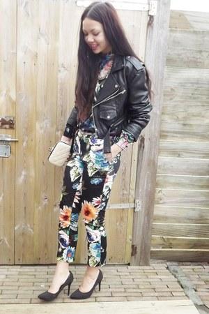 H&M pants - vintage jacket - aosap bag - H&M pumps - H&M blouse