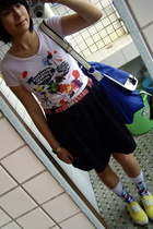 t-shirt - Mango belt - skirt - TH purse - Paul Smith socks - bambini shoes