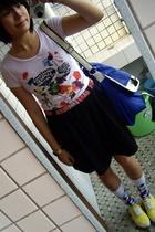 t-shirt - Mango belt - skirt - TH purse - Paul Smith socks - bambini shoes