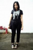 Mango t-shirt - Giordano Concepts belt - Mango - bracelet -  pants - PEINK shoes