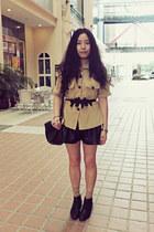 black Bata boots - black Paper minT bag - black Sukiired shorts