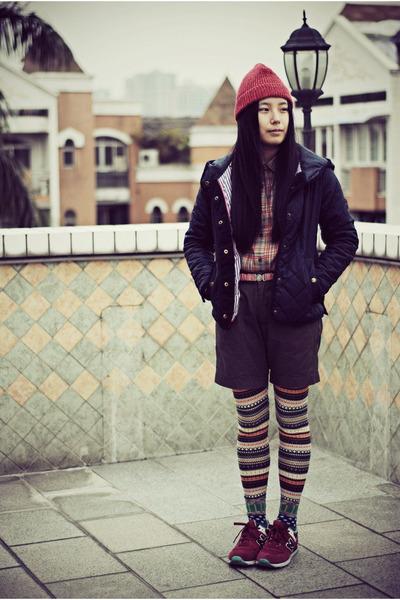 H&M hat - jack wills jacket - Uniqlo shirt - CHOCOOLATE shorts