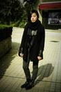 Black-puzzle-boots-black-leather-jacket-black-h-m-blazer-black-scarf-bla
