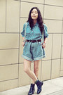 Aquamarine-choc-boutique-bag-navy-choc-boutique-boots-blue-shuca-shirt