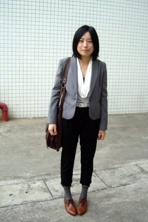 TH jacket - twopercent blouse - Baby Jane belt -  pants - Paul Smith socks - NAN