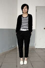 Black-giordano-cardigan-black-5cm-t-shirt-white-baby-jane-belt-black-pants