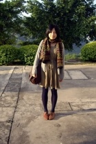 WOOL TOUCH scarf - coat - dress -  purse - NANING9 shoes