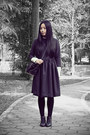 Black-bata-boots-gray-wingfree-dress-white-sukiired-shirt