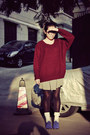 Blue-anna-sui-for-hushpuppies-shoes-brick-red-sweater-white-socks