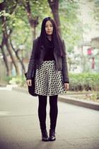 black Bata boots - dark gray Sukiired jacket - black Uniqlo sweater