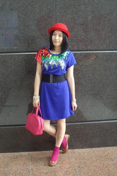 hat - dress - baleno attitude belt - CRABTREE &amp; EVELYN - H&amp;M socks - CnE shoes