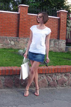 white Stradivarius blouse