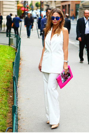 Stella McCartney bag - Topshop sunglasses - Aldo heels - Myberry suit