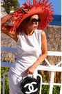 River-island-dress-totti-hat-chanel-bag-chanel-sunglasses