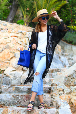Zara jeans - Hermes bag - Topshop sunglasses - Myberry cardigan
